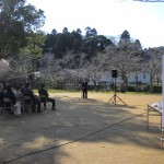 山開き式典の会場