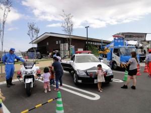 警察車両展示
